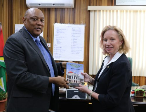 Minister of  Natural Resources Hon. Raphael G.C Trotman meets U.S. Ambassador to the Co-operative Republic of Guyana Ms. Sarah-Ann Lynch
