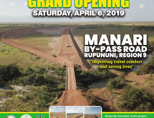 Press Release – Manari Bypass Road to officially open April 6th