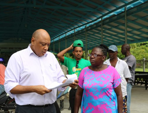 Press Release – Minister of Natural Resources conducts inspection of East Bank Berbice areas affected by weather