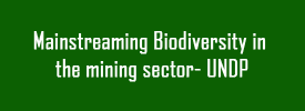 Mainstreaming Biodiversity in the mining sector- UNDP