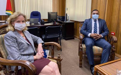 US Ambassador & Minister Bharrat